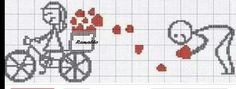 Embroidery Walkthrough: Romantic charts in cross stitch Cross Stitch Love, Cross Stitch Designs, Cross Stitch Patterns, Wedding Cross, Needle Book, Valentine Day Love, Cross Stitching, Embroidery Stitches, Diy And Crafts