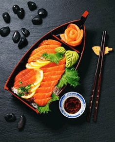 Salmon sashimi -- This I could eat everyday. :)