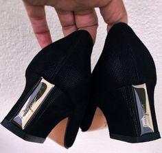 Salvatore Ferragamo Black Peau De Soie Shoes by loveusati on Etsy