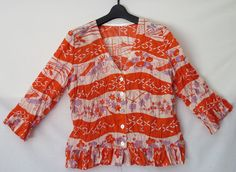Women's silk top Recycled kimono Japanese design by LinenStudioB