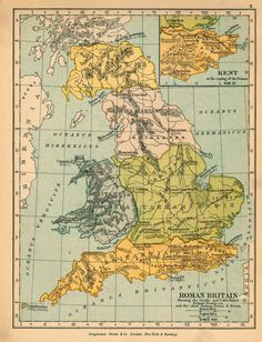 Britain, as it actually was divided up under Roman rule. 21 Maps That Will Change How You Think About Britain Roman History, European History, British History, Ancient History, Greek History, Tudor History, Family History, Vintage Maps, Antique Maps