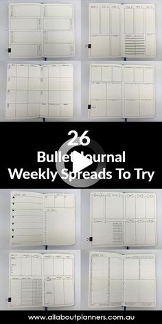 Bullet Journal Ideas: 26 Weekly Spread Layouts to Try #bulletjournal #bulletjournallayout Bullet Journal Goals Page, Daily Bullet Journal, Bullet Journal Spread, Bullet Journal Ideas Pages, Bullet Journal Inspiration, Book Journal, Life Journal, Minimalist Layout, Bullet Journel