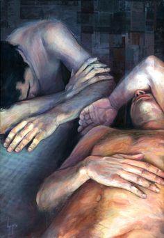 "Saatchi Online Artist: David Agenjo; Acrylic, Painting ""Exhausted"""