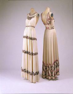 1930s dresses via The Costume Institute of the Metropolitan Museum of Art