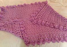 Lavender Baby Blanket #crochet #babyblanket
