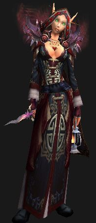 Cloth Transmog - Cowl of Tirisfal - Female Blood Elf Pauldrons of Catastrophic  Emperor's Riding Gloves Robes of Creation