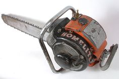Interesting looking collectible Homelite chainsaw.