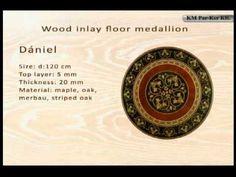 Wood inlay floor medallion -KM Par-Ker Ltd. Outdoor Wood Flooring, Wooden Flooring, Cnc, Wood Flooring, Parquetry, Timber Flooring, Wood Floor