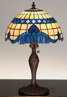 Meyda Tiffany 31201 Tiffany Glass Stained Glass / Tiffany Accent Table Lamp from the Baroque & Gypsy Collection Stained Glass Light, Tiffany Stained Glass, Tiffany Glass, Tiffany Lamp Shade, Tiffany Style Table Lamps, Table Lamps For Sale, Table Lamps For Bedroom, Black Table Lamps, Leaded Glass