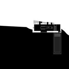 Wespi & de Meuron. Stone House KÜ in Brione sopra Minusio, Ticino, Switzerland. 2003-2005. Ground floor plan
