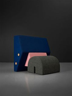 """"""" The Keystone chair, by OS & OOS, a new edition produced by Please Wait to be Seated, upholstered with the textiles from the RAF SIMONS / KVADRAT collection. Chair Design, Furniture Design, High And Low Lights, Contemporary Chairs, Loft, Furniture Inspiration, Furniture Ideas, Op Art, Trends"""