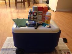 DIY Custom Painted Cooler – Birthday/Tailgating/Formal | The College Crafter