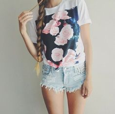 different shorts but cute shirt! if only the shorts were a couple inches longer