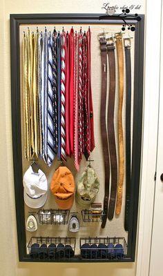 DIY closet organizer using a peg board… @ Home DIY Remodeling