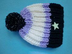 Mütze  Leuchtbommel Leuchtstern Nightlight  Neu !! von Auenblume auf DaWanda.com