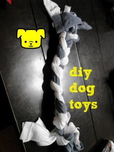 DIY Dog Toys - you make them with old t-shirts! I only had about 100 in the closet!
