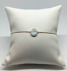 Bracelet ajustable avec Pierre de Lune Rainbow Moonstone