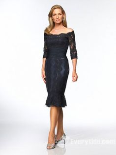 $58.99【Everytide Mother of the Bride Dress】 Picture Color US 14 Sheath / Column Lace Mother of Bride Dresses