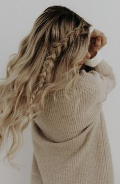 cableknits + fishtail braids