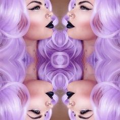 This lilac wig is gorgeous. | These Rainbow-Colored Wigs Prove That Unnatural Hair Is Beautiful