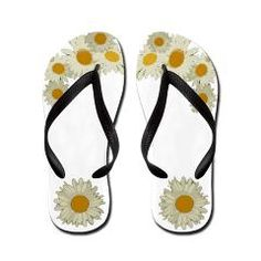 9fe307c37 Daisy Flip Flops  For the Head   Feet  A Little Bit of This and That .