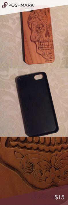 I phone 6S phone case Wood grain skull Accessories Phone Cases