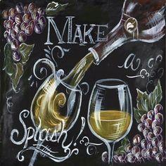 Chalkboard Wine II by Tre Sorelle Studios art print