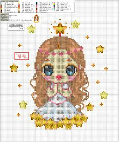 Zodiac Baby Virgo Cross Stitch Pattern 2/2
