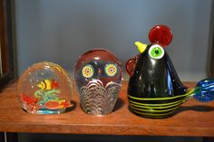 A few Murano paperweights in my collection.