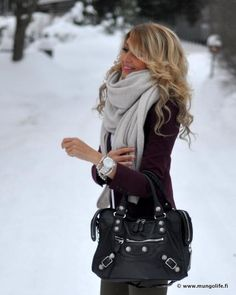 Winter style-love everything about this down to even the hair.