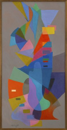 Musique de Chambre 1957 Stanton MacDonald-Wright  was an American painter and a co-founder of Synchromism, an early abstract, color-based mode of painting like Orphicism, which was the first American avant-garde art movement to receive international attention