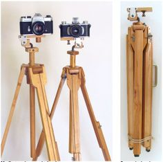 Home made wooden tripods http://woodgears.ca/tripod/