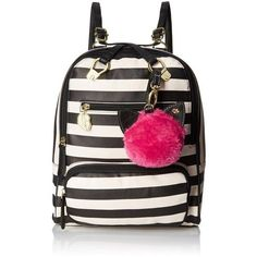 LUV BETSEY by Betsey Johnson Stripe Convertible Fashion Backpack ( 62) ❤  liked on Polyvore 1157eaf41d936