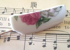 Bobbie pin made of recycled vintage china plates by BellaCosaAr