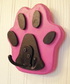 Dog Leash Hanger, Dog Paw Shaped Leash Holder