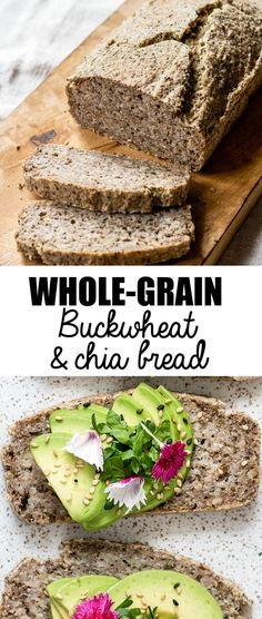 "buckwheat & chia bread This whole-grain buckwheat & chia bread is a hearty bread that is naturally vegan and gluten-free! You won't believe how easy this bread is to make-no yeast required!Easy Love ""Easy Love"" may refer to: Healthy Gluten Free Bread, Healthy Baking, Gluten Free Recipes, Vegan Recipes, Gluten Free Ezekiel Bread Recipe, Healthy Chef, Vegan Bread Recipe No Yeast, Vegan Sandwich Bread Recipe, Gluten Free Buckwheat Bread"