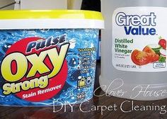 diy carpet cleaning, carpets, rugs, upholstery, cleaning tips, Oxy Clean vinegar and warm water is all we used