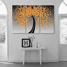 allungato+su+tela+felicità+fiori+fioriture+astratta+set+pittura+di+3+–+EUR+€+87.21