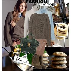 Mushroom cardi, taupe velvet pants, JCrew chambray shirt