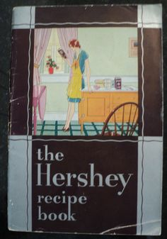 This 1930 first edition book was published by the Hershey Chocolate Company of Hershey, PA. All 79 pages are intact with no markings or tears. There are 235 recipes for good things from Chocolate Tow Chocolate Recipe Book, Hershey Chocolate, Chocolate Heaven, Chocolate Recipes, Hershey Recipes, Hershey Candy, Chocolate Company, Vintage Cooking, My Cookbook