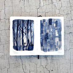 Follow your path. Sigue tu camino. Adolfo Serra sketchbook.