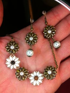 Earrings, Necklace, Bracelet