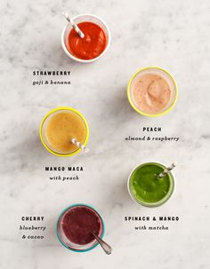 Rainbow Breakfast Smoothies / loveandlemons.com