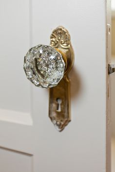 Crystal door knob...love!