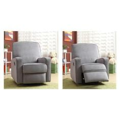 Best Chairs Quinn Swivel Glider In Mist With White