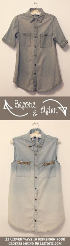 DIY Studded Ombre Denim for ladies Trendsgator.com | Trendsgator.com