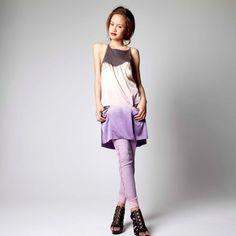 Cecilia slip viola, marrone chiaro, abiti