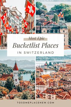 Explore most beautiful cities in Switzerland :These best cities to visit in Switzerland will fuel your wanderlust with their scenic landscape & town centres Switzerland Travel Guide, Switzerland Itinerary, Places In Switzerland, Switzerland Bern, Switzerland In Winter, Switzerland Destinations, Grindelwald Switzerland, Voyage Europe, Europe Travel Guide
