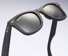 Ray Ban Wayfarer in black leather #toughasleather I want these SOO bad!!