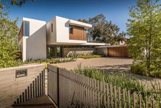 A landscaped front entrance welcomes you to this home in California.